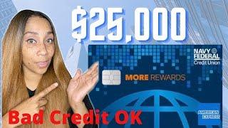 $25,000 Navy Federal Amex Credit Card 🤫Secrets For Good or Bad Credit!