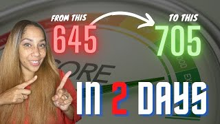 Increase Your Credit Score In 2 DAYS! Without Removing One Negative Item!!